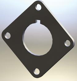 Adapter plate precision image