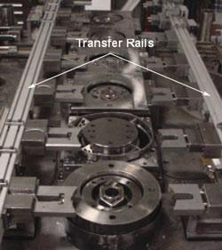 Transfer die rails