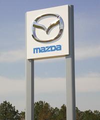 Mazda Logo Sign