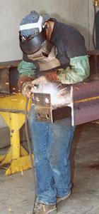 Suburban steel worker