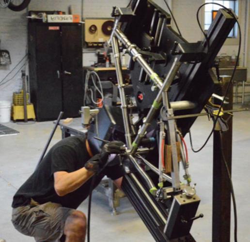 Custom bicycle manufacturer fabricates titanium, ferrous materials ...