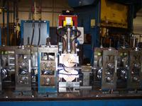 Roll forming rotary spot weld area