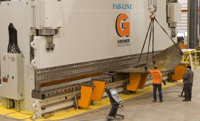 Greiner Industries' giant press brake
