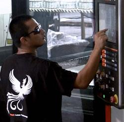 Laser cutting machine operators