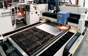 Flat-sheet laser cutting system
