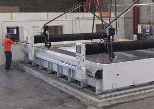 Abrasive waterjet table