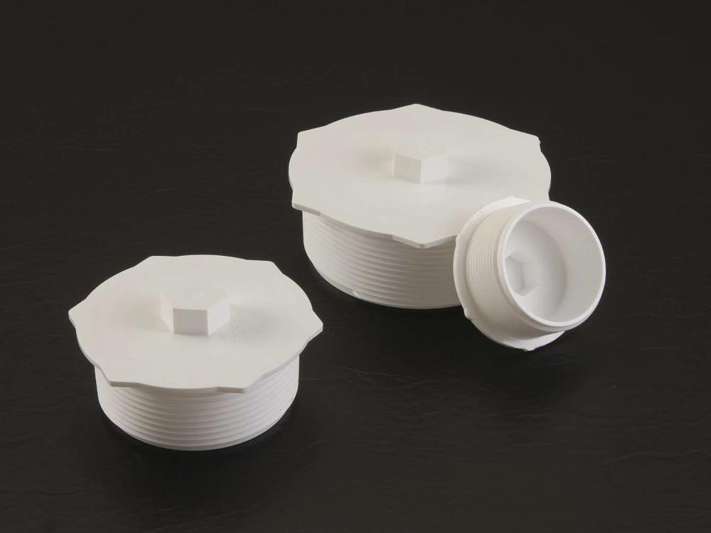 Threaded plugs offer protection for npt fittings the