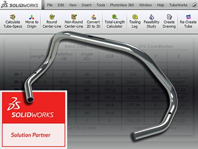 Tube bending CAD/CAM software