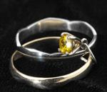 Gold, platinum and topaz ring
