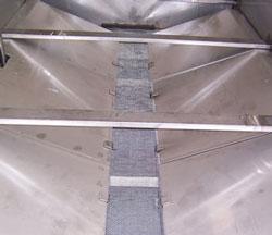 Waterjet central trough