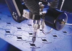 Waterjet precision cutting
