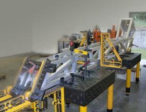 weld fixturing machine