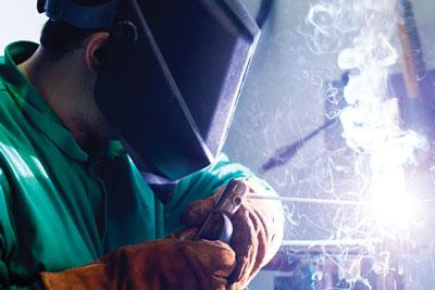 Welder Closeup