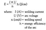 welding equation