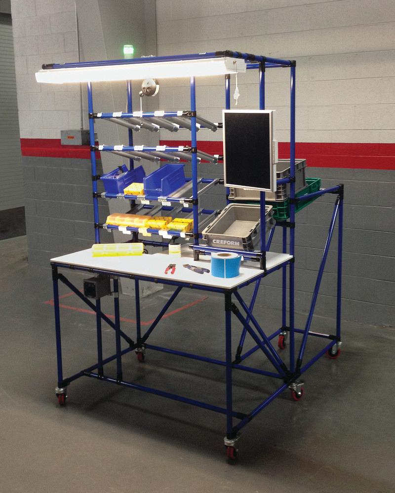 Assembly Line Workstations : Workstation combines multiple assembly operations the