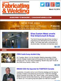 Canadian Fabricating & Welding eNews Cover