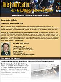 The Fabricator en Español Newsletter Cover